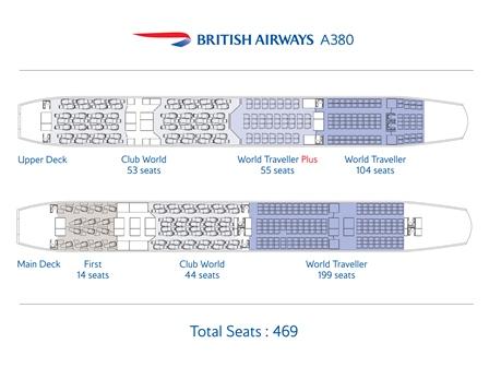 BA A380 seat map