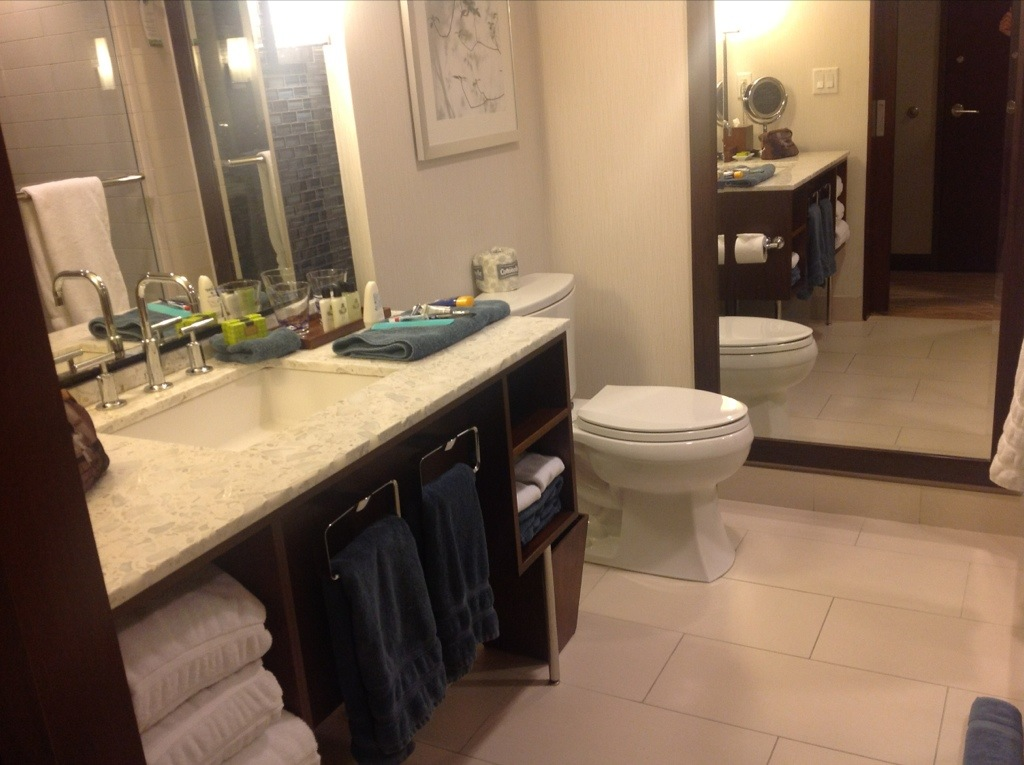 InterContinental New York Times Square review bathroom