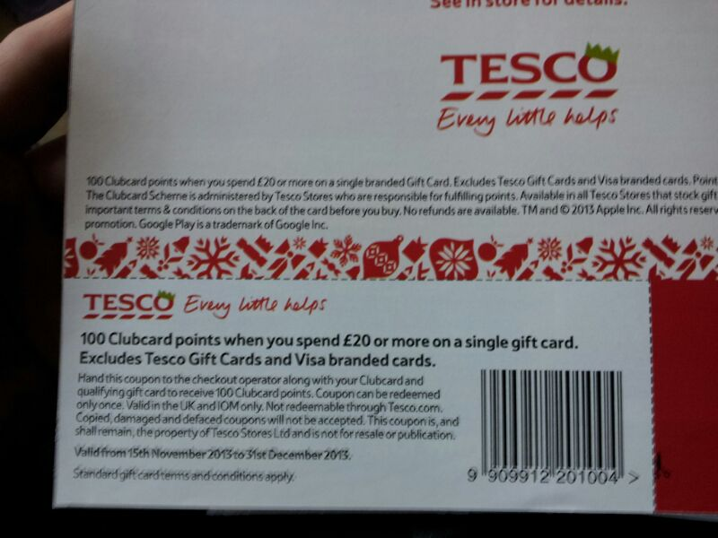 Tesco discount coupons