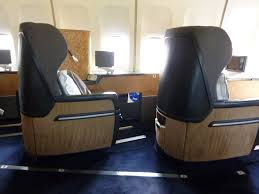 British Airways old First Class seat