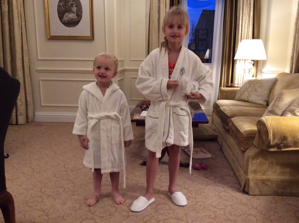 Four Seasons Hampshire review for children - robes