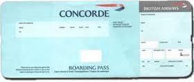Concorde ticket