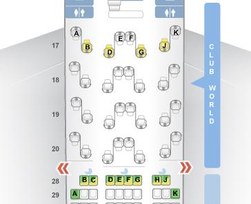 British Airways 747 seat map 2