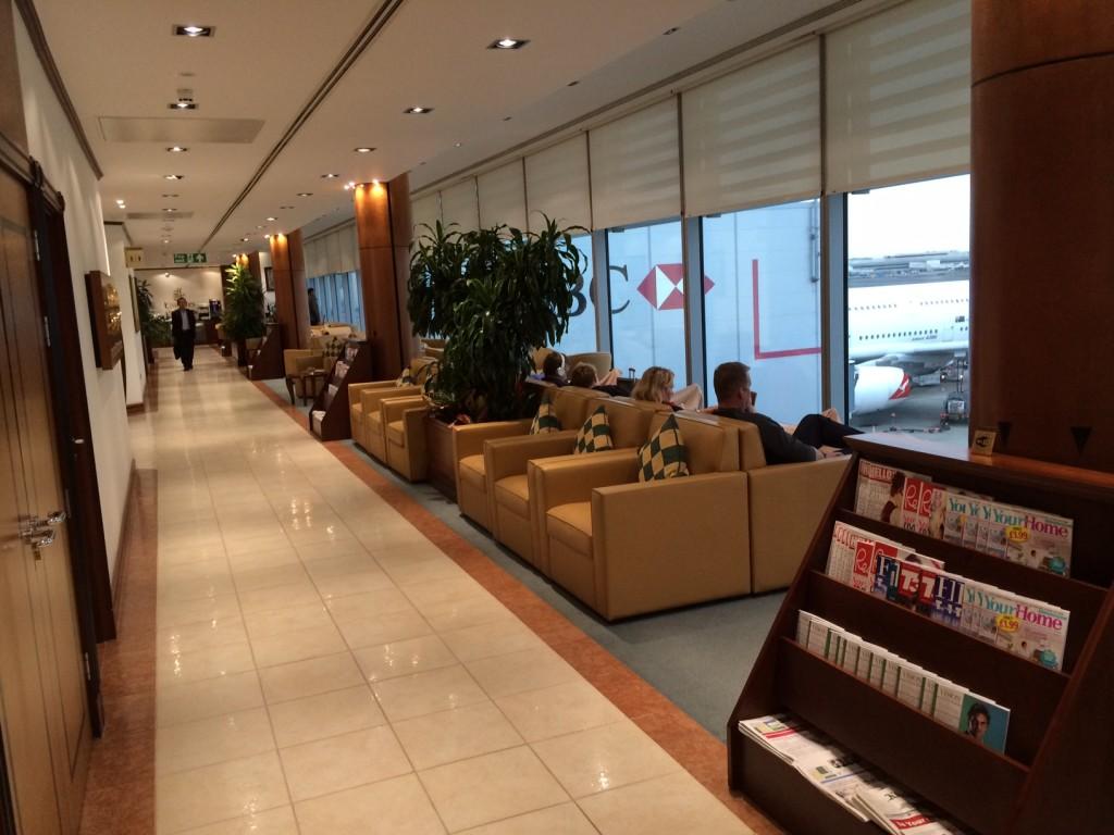 Emirates London lounge corridor review