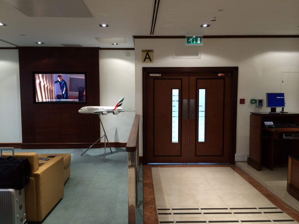 Emirates London lounge gate review