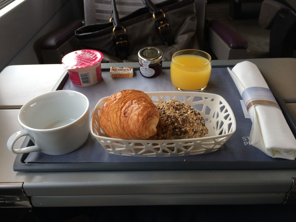 Eurostar standard premier food review