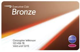 Old BA Bronze card