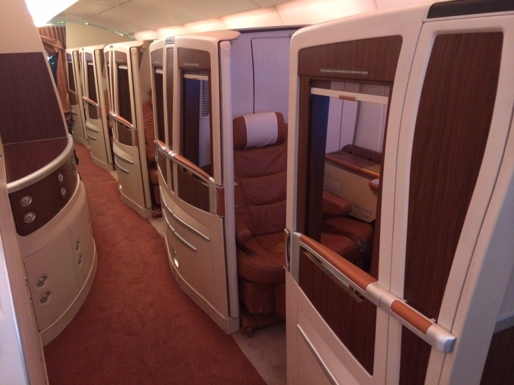 Singapore A380 First Class suite exterior review