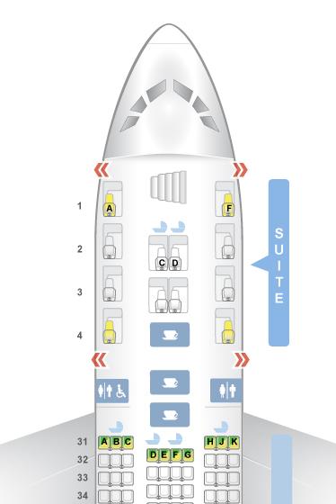 Singapore seat map A380