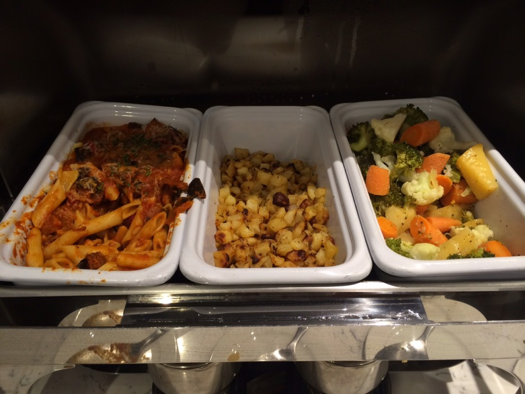 Heathrow Terminal 2 United Club lounge review - food 4