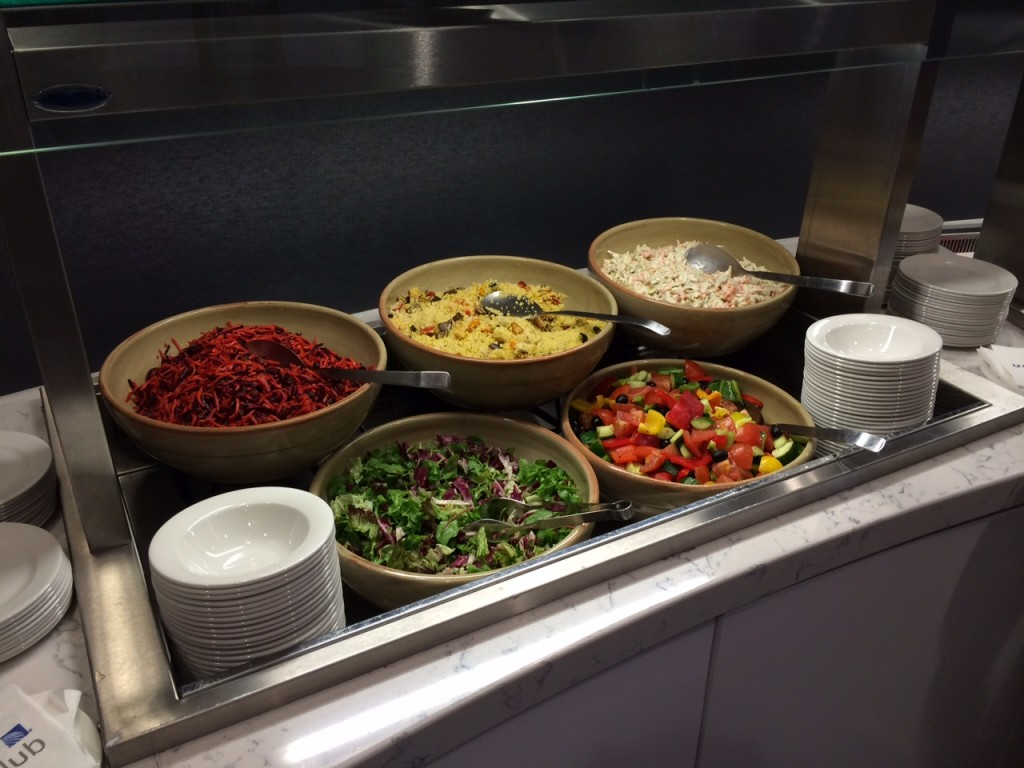 Heathrow Terminal 2 United Club lounge review - food 6
