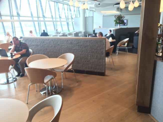 Aer Lingus Virgin Little Red lounge Heathrow review