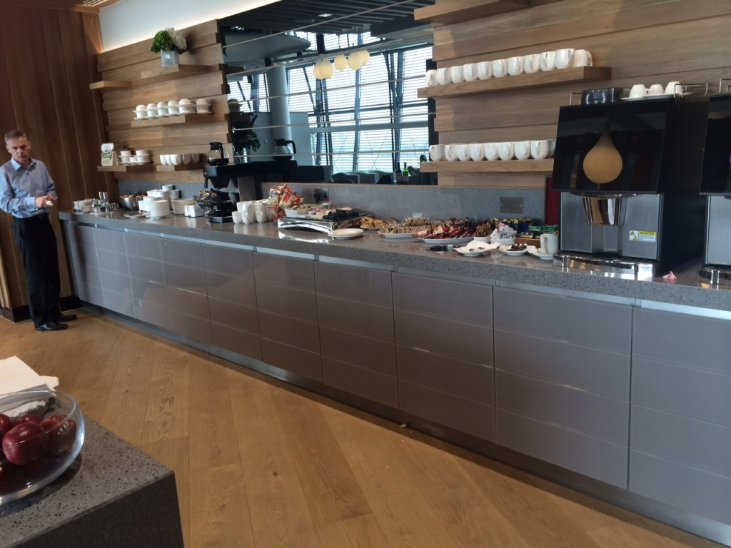 Aer Lingus Virgin Little Red lounge Heathrow food review