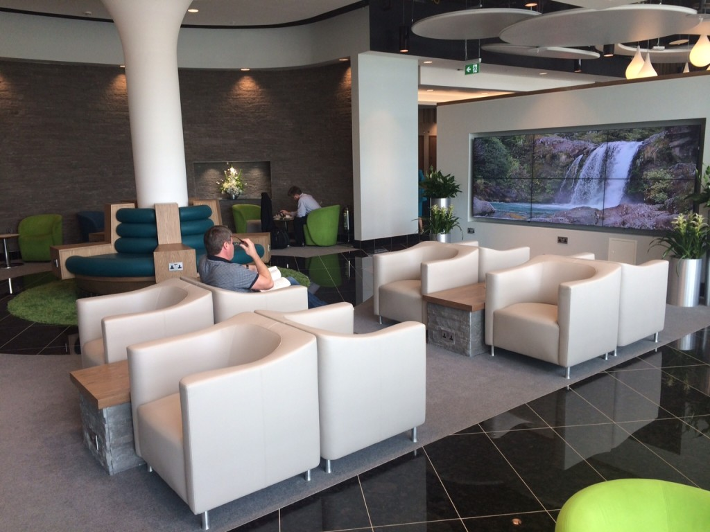 Aer Lingus Virgin Little Red lounge Heathrow main review