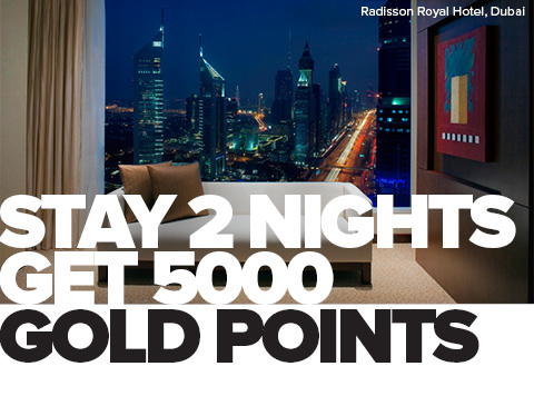 Club Carlson 5000 points weekend stay