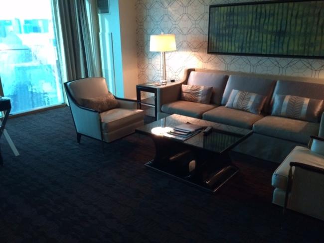 Four Seasons Las Vegas suite living room review