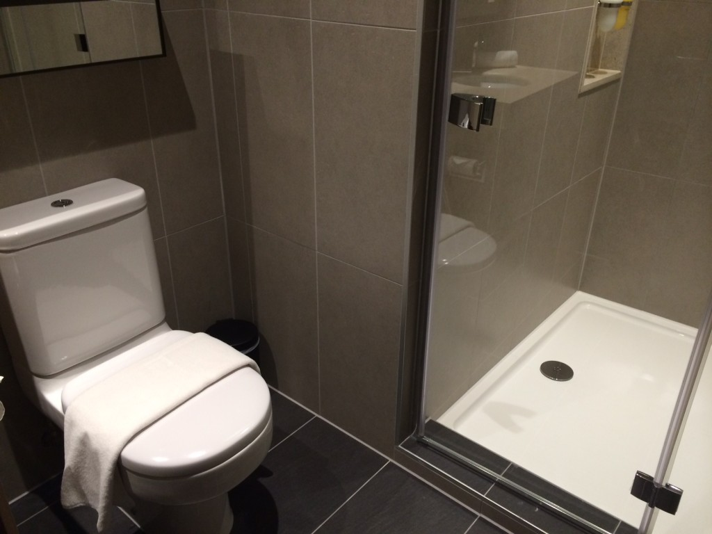 Plaza Premium Heathrow shower
