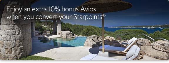 Starwood Avios bonus