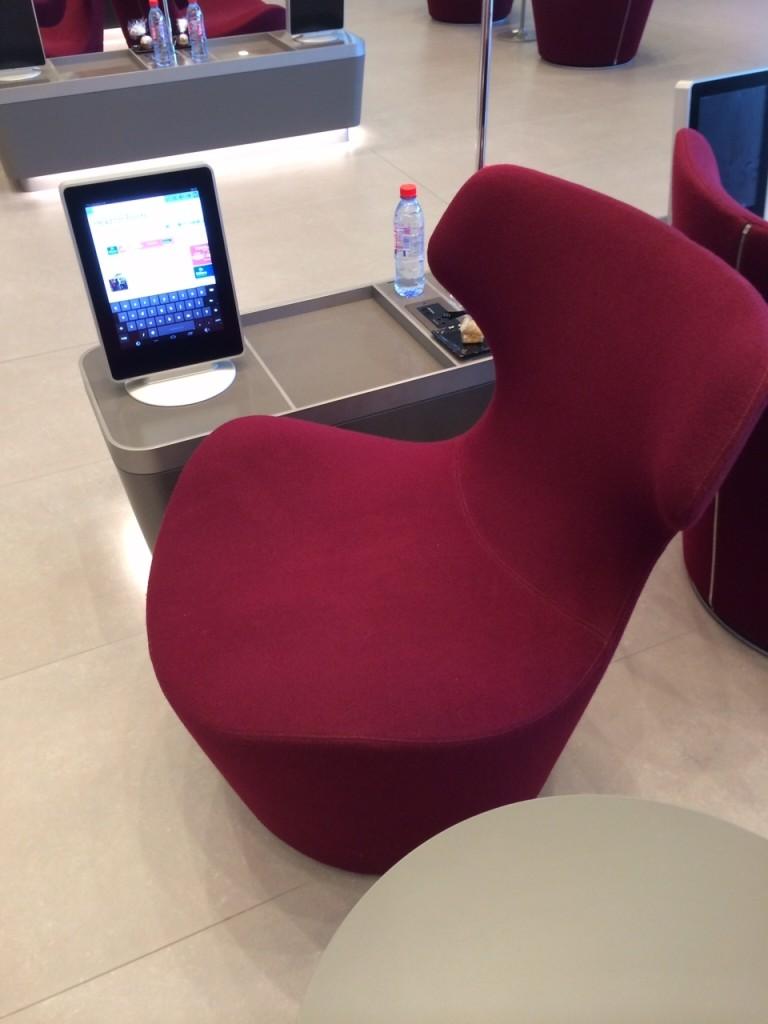 Al Mourjan lounge Doha Qatar chair ipad