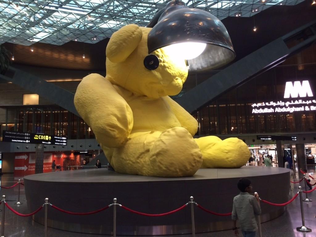 Hamad Airport Doha Qatar teddy bear