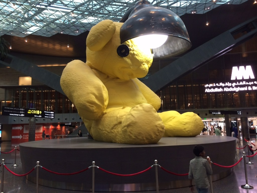 Hamad International Qatar Doha bear