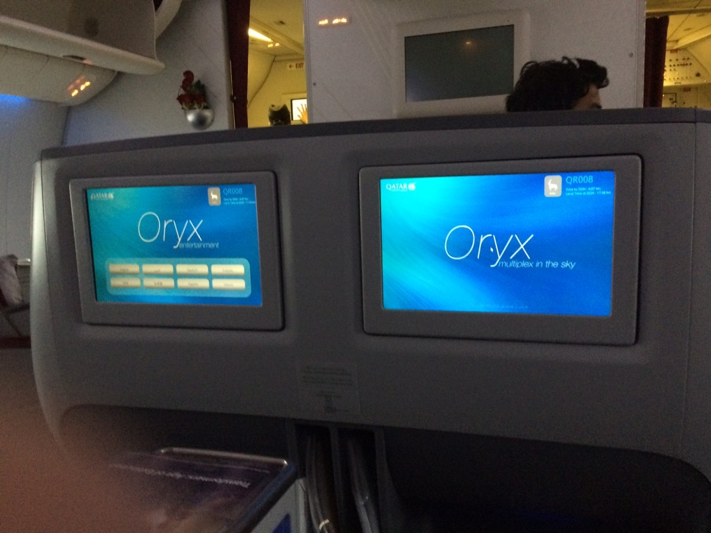 Qatar Airways 777 Oryx TV