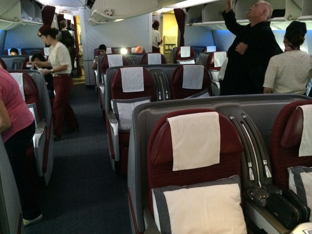 Qatar Airways 777 business class middle seat
