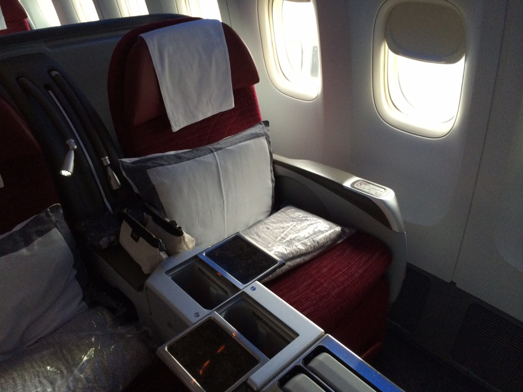 Qatar Airways 777 business class seat
