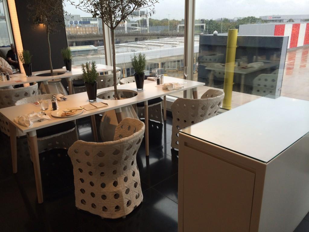 Qatar Premium Lounge casual dining