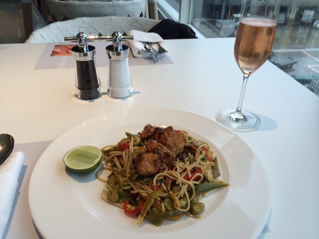 Qatar Premium Lounge food