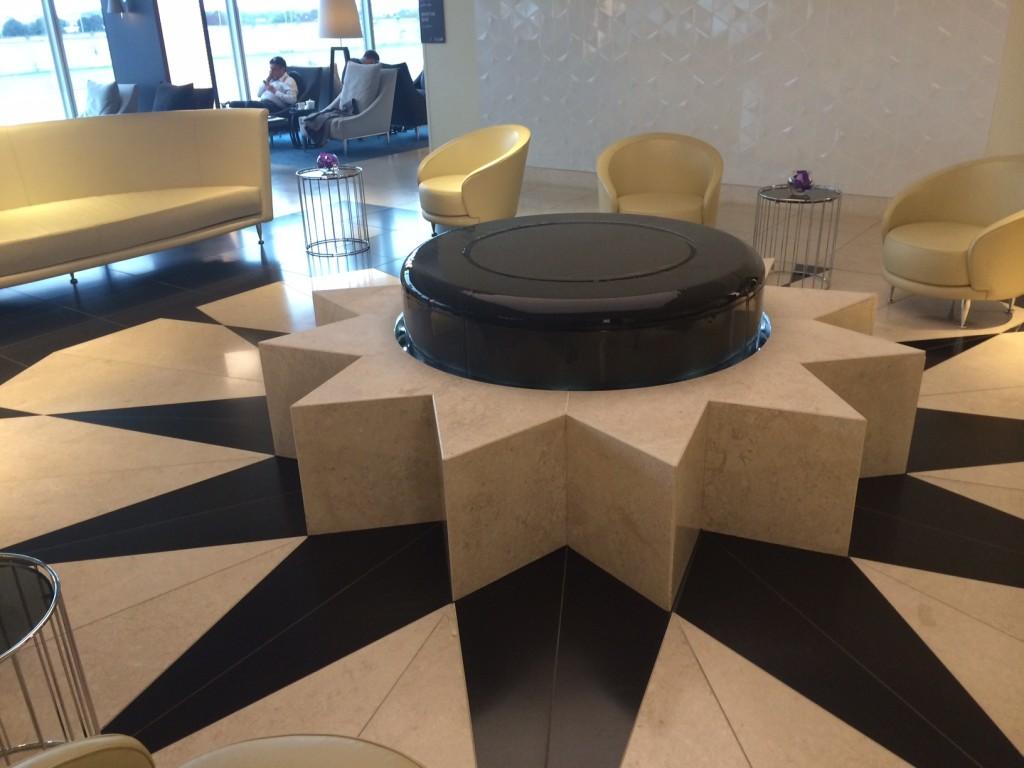Qatar Premium Lounge water feature