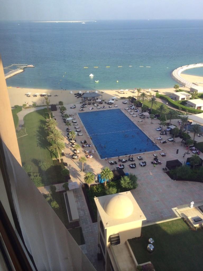 St Regis Doha pool shadow