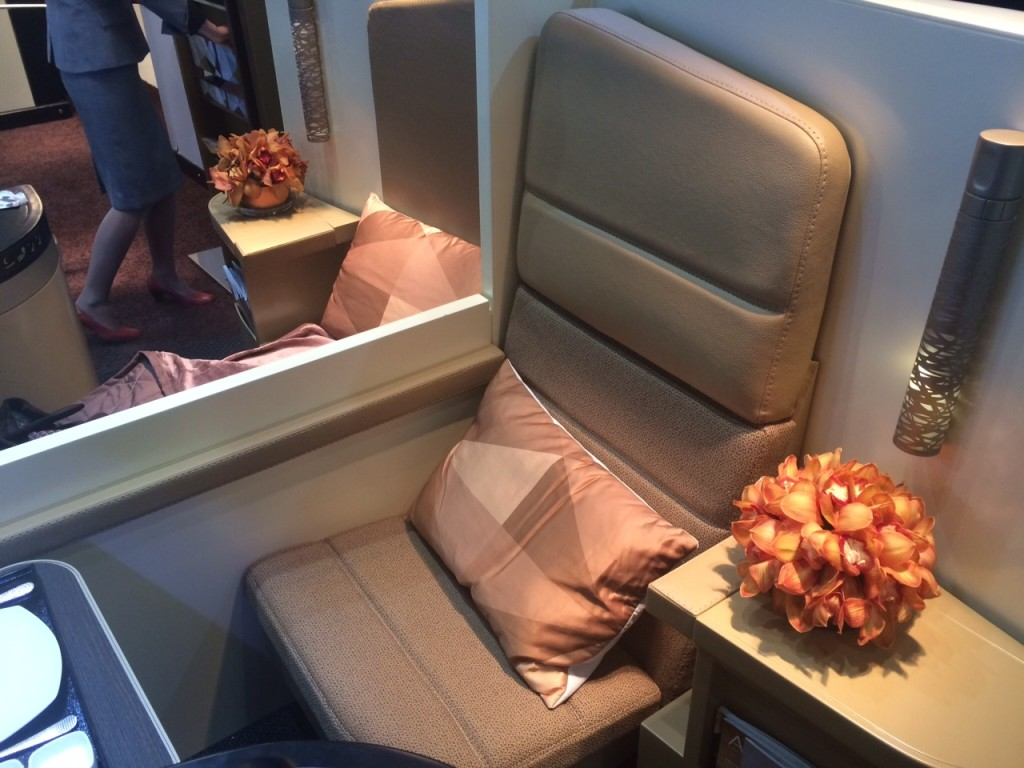 Etihad A380 business class studio