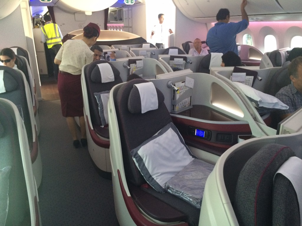 Qatar Airways 787 business class review - cabin