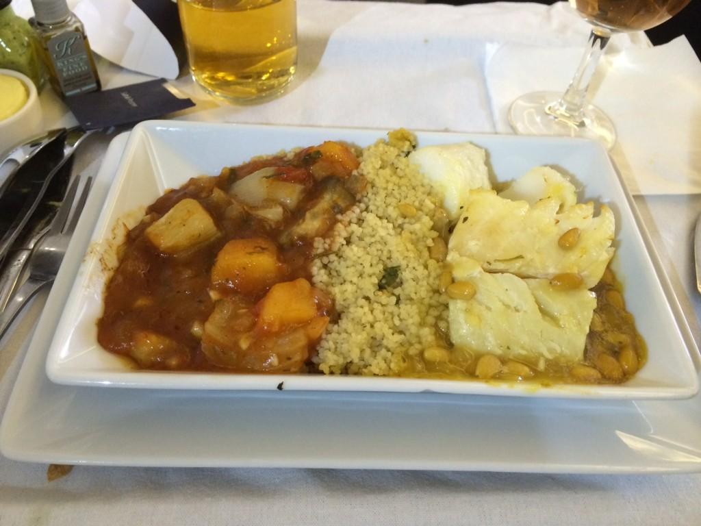 British Airways Club World main course