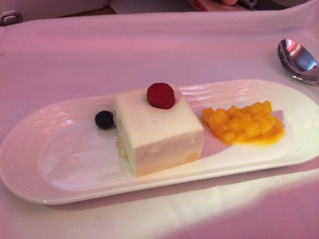 Emirates business class dessert