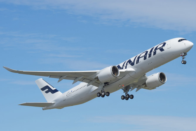 Finnair A350 flying