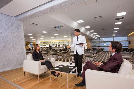 Qantas British Airways first class lounge Los Angeles 2