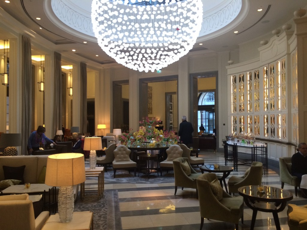 Corinthia Hotel London review lobby rpt