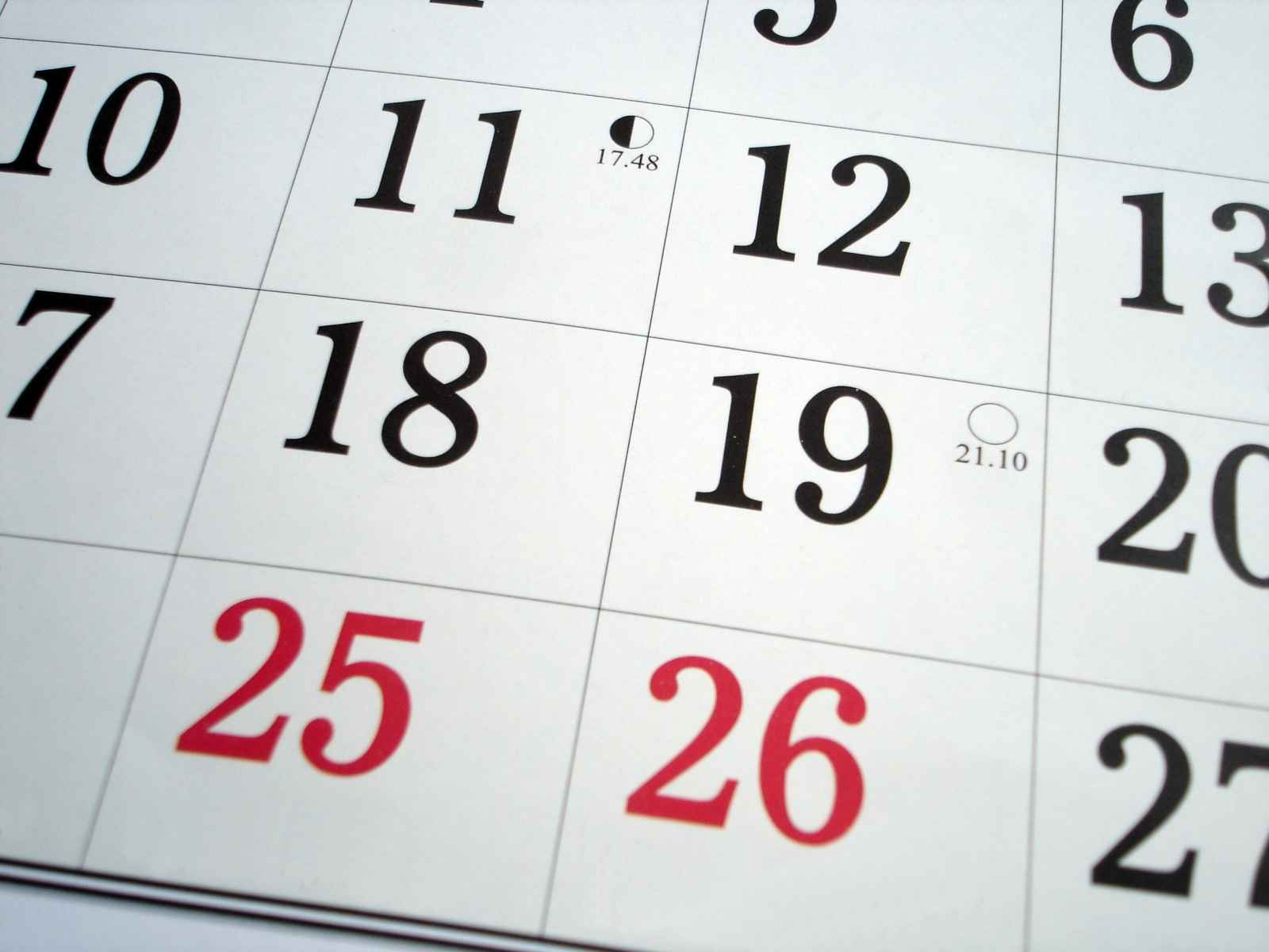 Important dates for your diary – offers about to close which you shouldn't miss