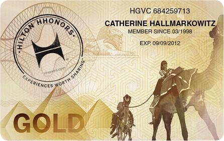 Hilton Gold status match