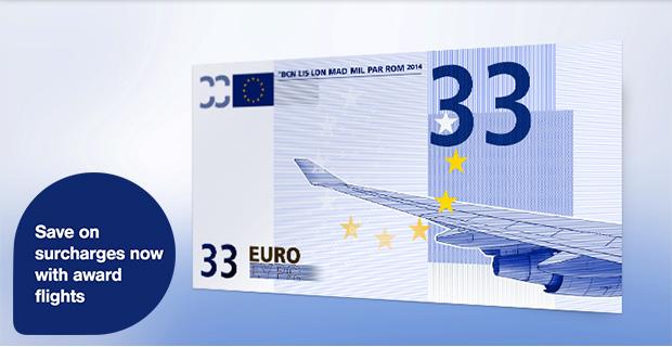 Lufthansa Euro 33 discount