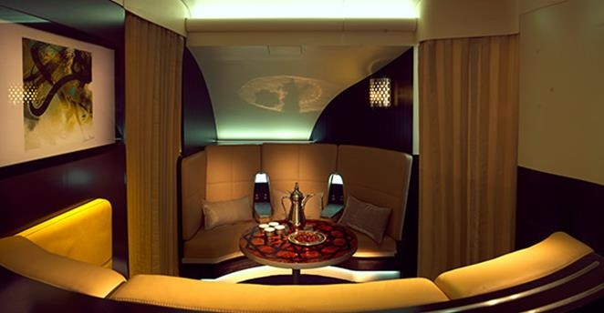 Emirates A380 bar lobby