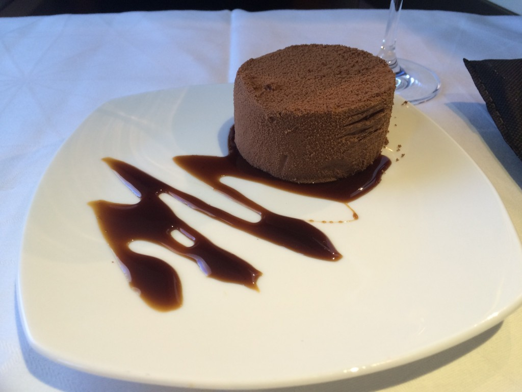 Etihad A380 Business Suite review food dessert