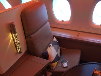 Etihad A380 business class suite review seat