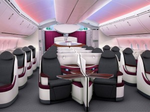Qatar 787 350 business class