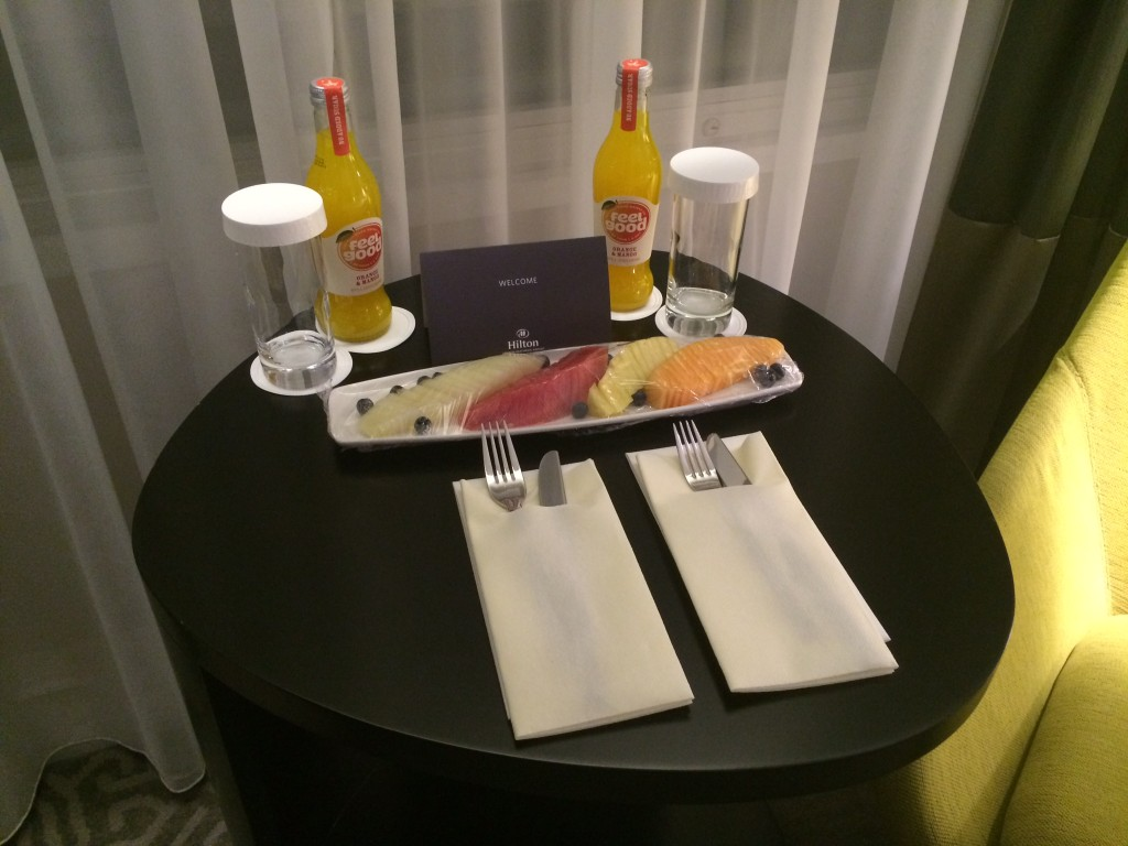 Welcome gift Hilton London Heathrow Terminal 4 review