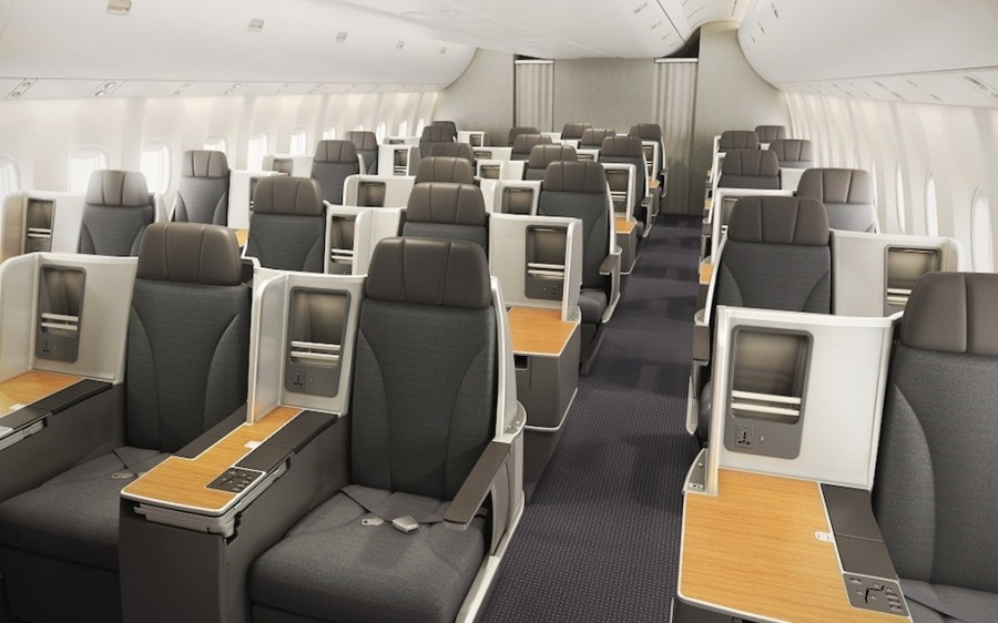 American 767 business class