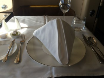 Etihad Boeing 777 First Class Suite food 1