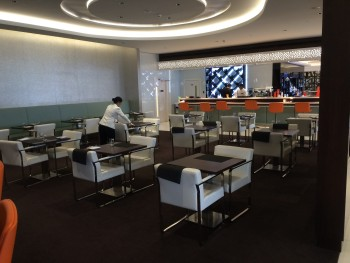 Etihad Premium Lounge Abu Dhabi restaurant